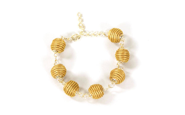 Globe | Golden Grass Bracelet