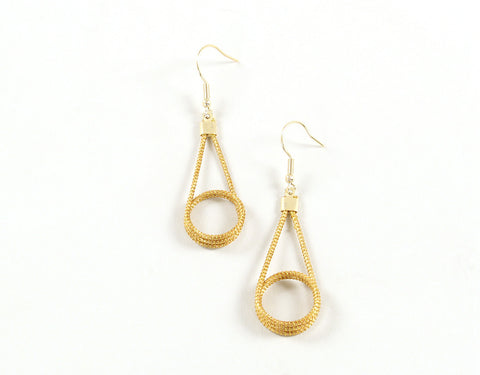 Small Lasso | Golden Grass Pendant Earrings