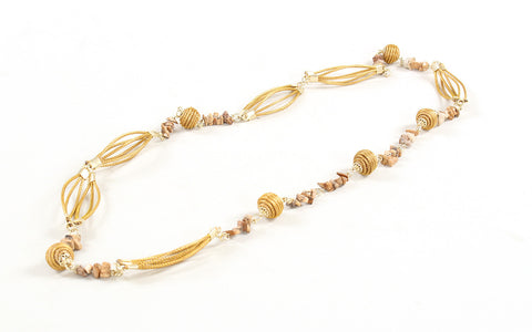 Rio Pedra | Golden Grass Necklace