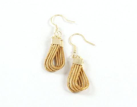 Ropa (Small) | Golden Grass Pendant Earrings