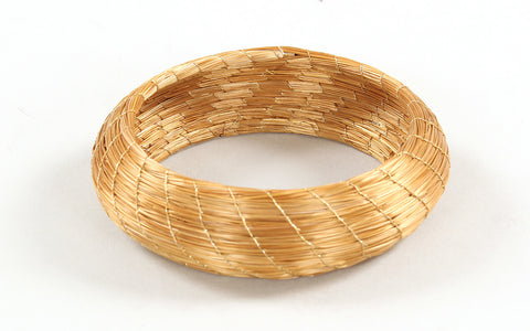 Larga Bangle | Golden Grass Bracelet