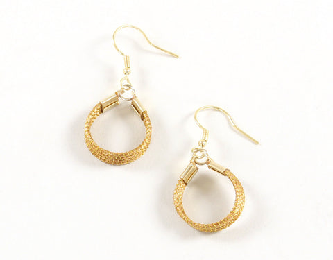 Strand Loop | Golden Grass Pendant Earrings