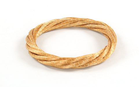 Twist Bangle | Golden Grass Bracelet
