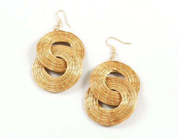 Unity | Golden Grass Pendant Earrings