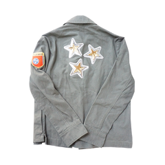 Military Jacket with Sequin Stars, Patch and Pilgrimage Embroidery