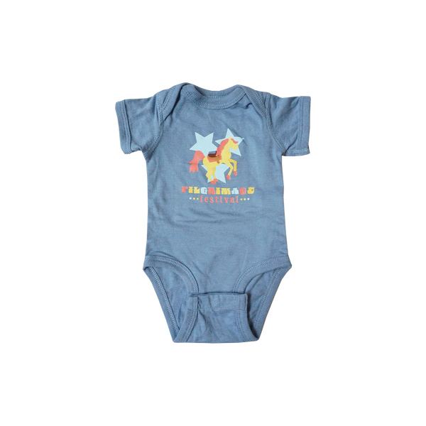 Blue Bronco Onesie