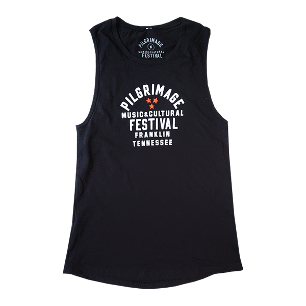 Ladies Tri-Star Black Tank