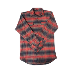 Red Flannel With Chain Stitch Embroidery