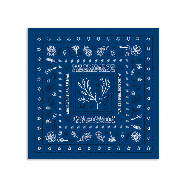 Blue Wildflower Bandana