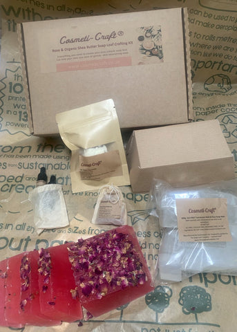 Cosmeti-Craft Rose and Organic Shea Butter Soap Loaf Crafting Kit