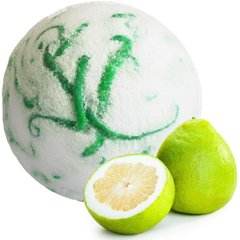 Tropical Pomelo Fruit and Coconut Butter Soap Infused Bath Bomb