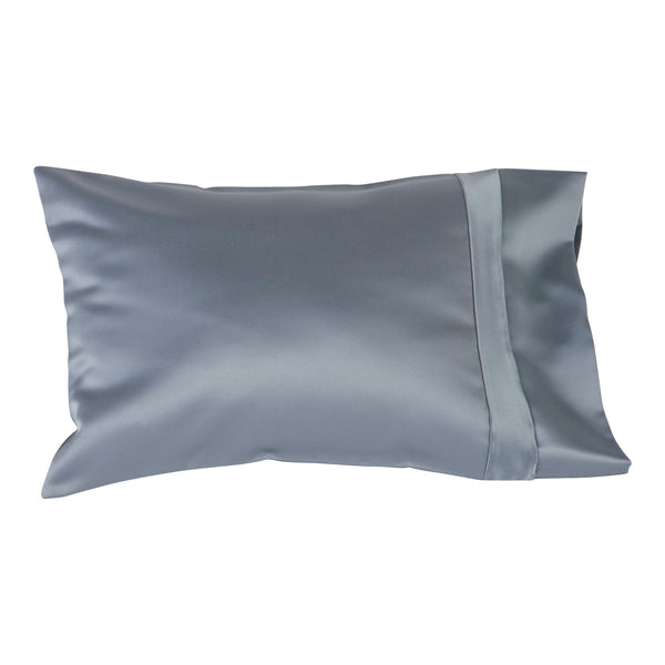 small silver satin pillow cover