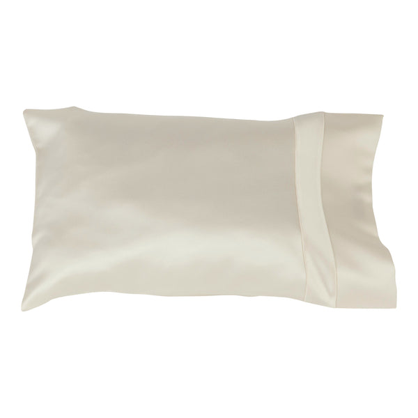 Travel pillow cover ivory