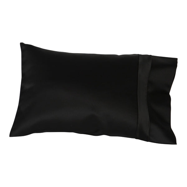 black satin travel pillow cover