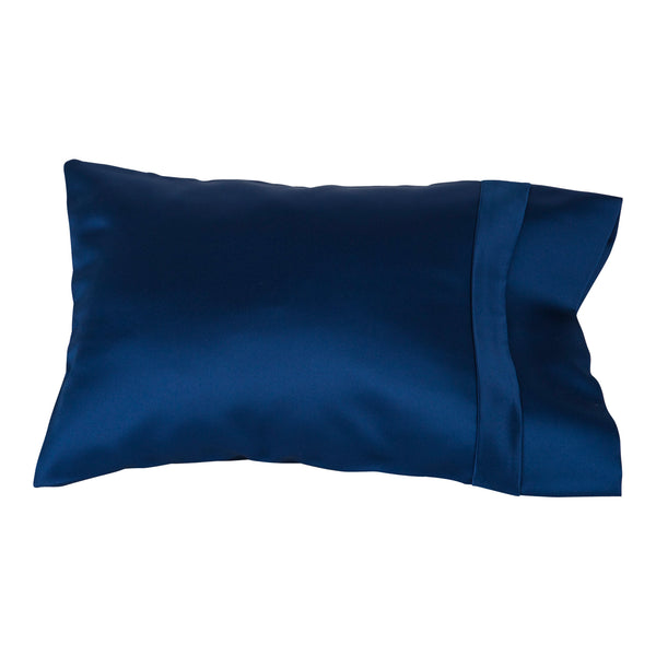 indigo satin pillow slip child size