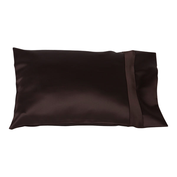 brown satin child size pillow