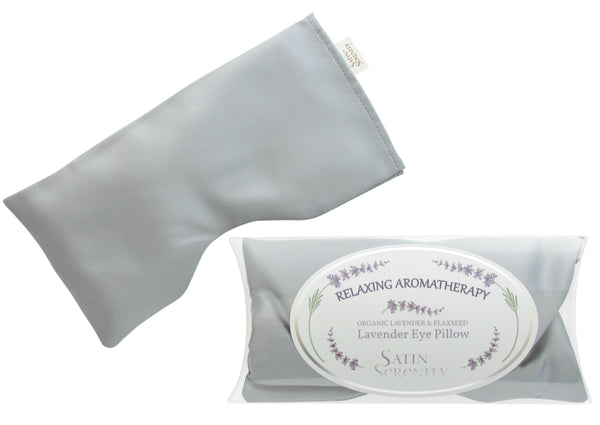 Eye Pillow with lavender in silver color