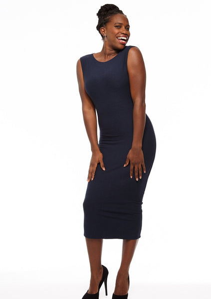 Sleeveless Midi 2-way Reversible Dress