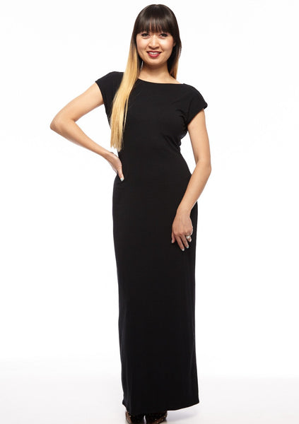 Cap Sleeve Maxi 2-Way Reversible Dress