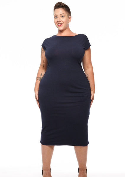 Cap Sleeve Midi 4-Way Reversible Dress