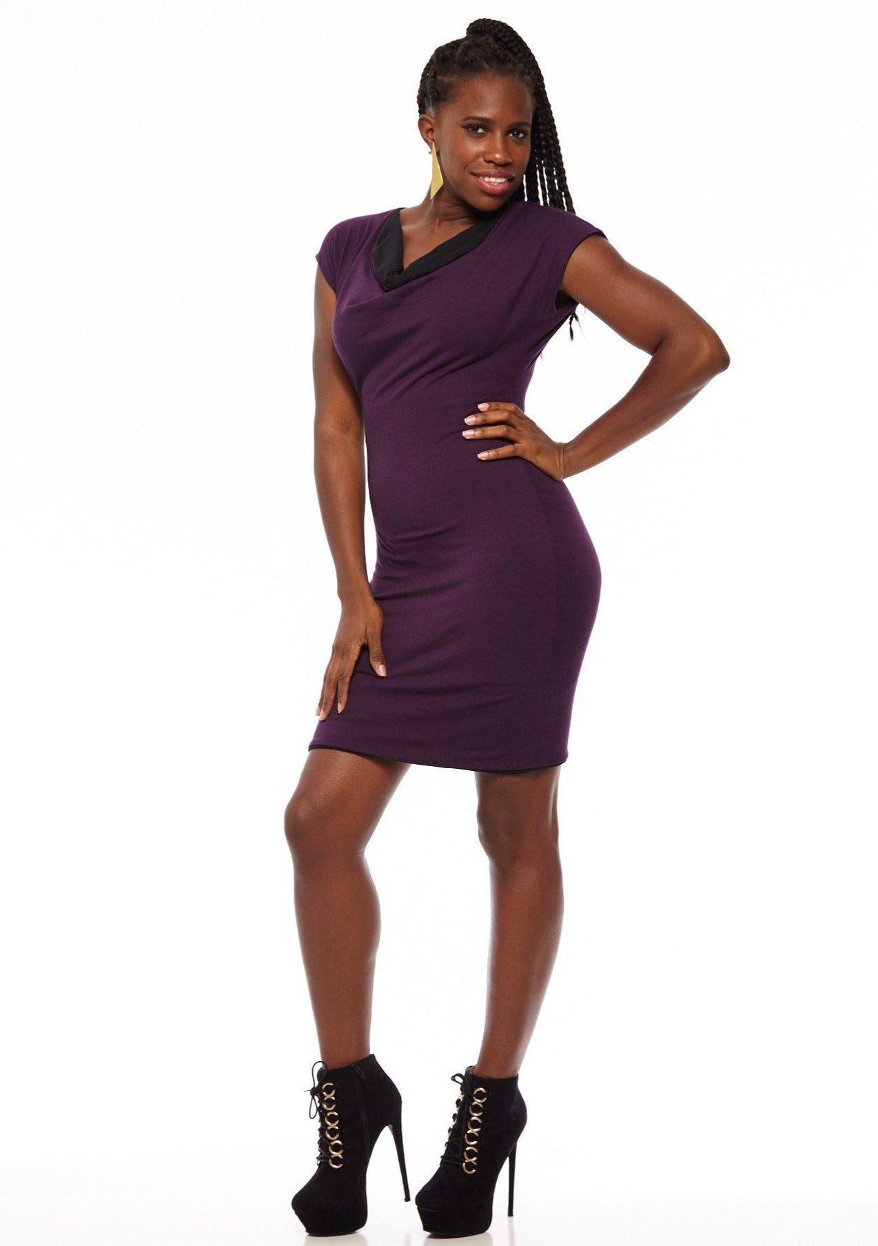 Cap Sleeved Original 4-Way Reversible Dress