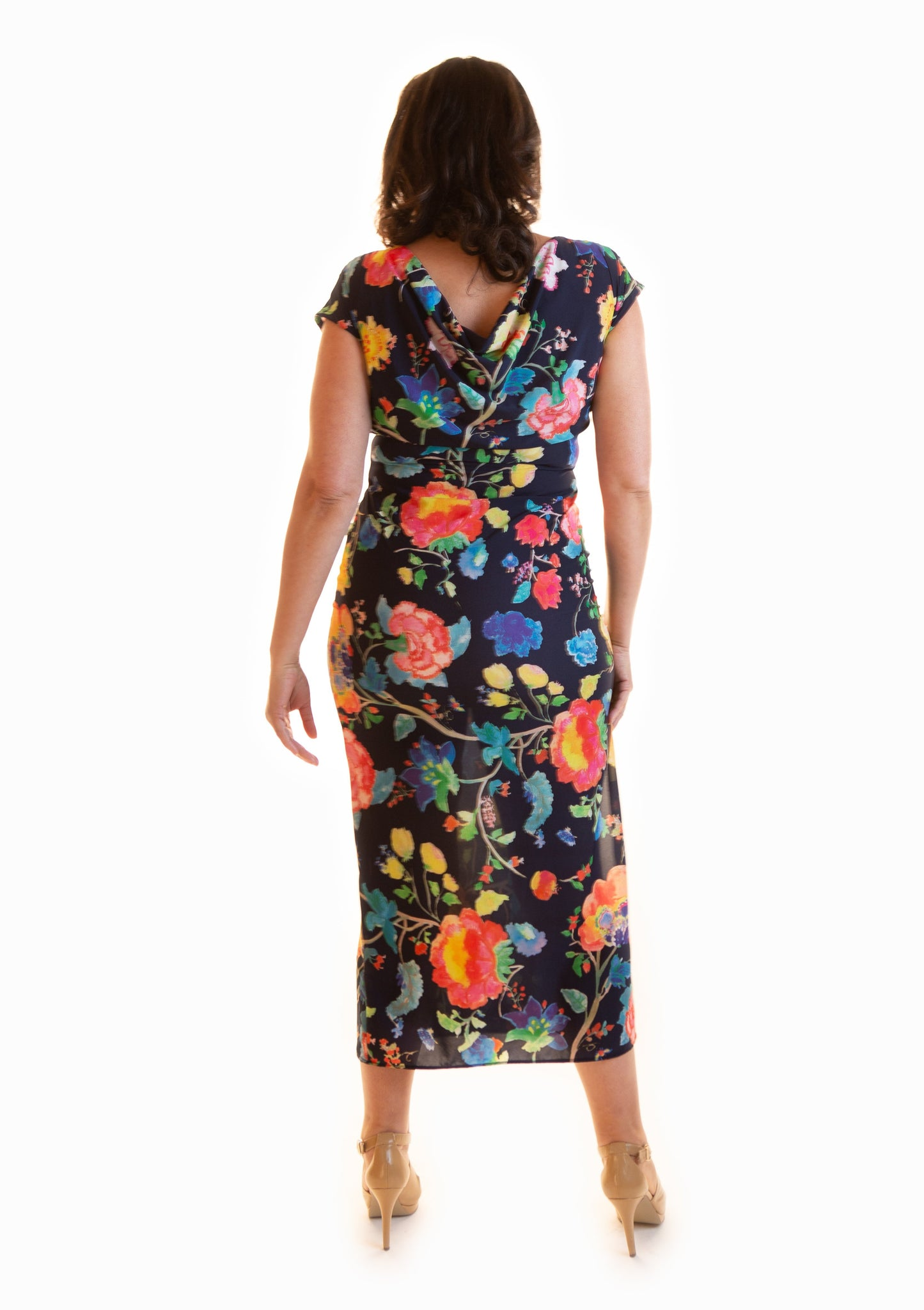 Midi Juicy Floral Reversible Dress