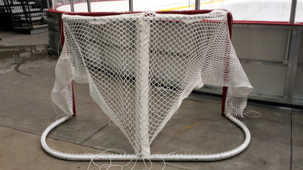 "6' x 4' Replacement Ice Hockey Net-Trimmed,  fits 40"" deep- 20"" Top Shelf"