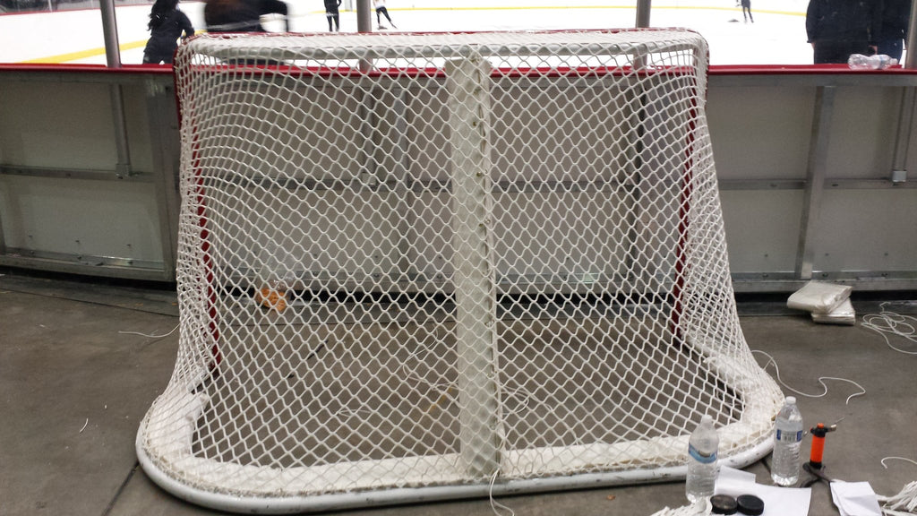 NHL Regulation Ice Hockey Goal back view