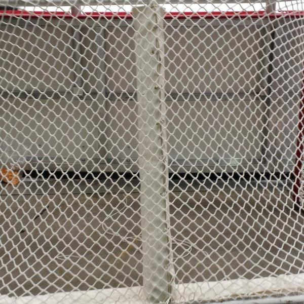 Ice hockey net center bar pad