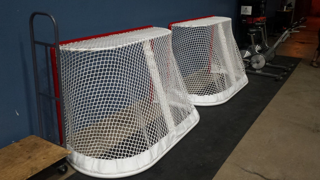 "6' x 4' Ice Hockey Goal, NHL Regulation  2- 3/8"", One piece Welded, 40"" deep"