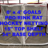 6' x 4' Replacement Ice Hockey Net. Fits 34