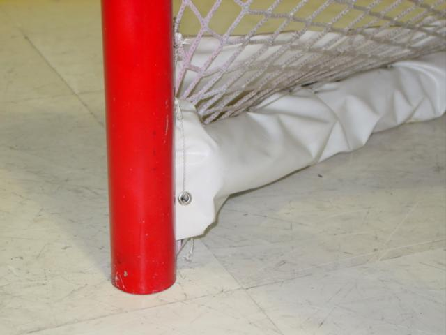 "6' x 4' Ice Hockey Goal, NHL Regulation 2-3/8"", One Piece Welded, 34"" deep"