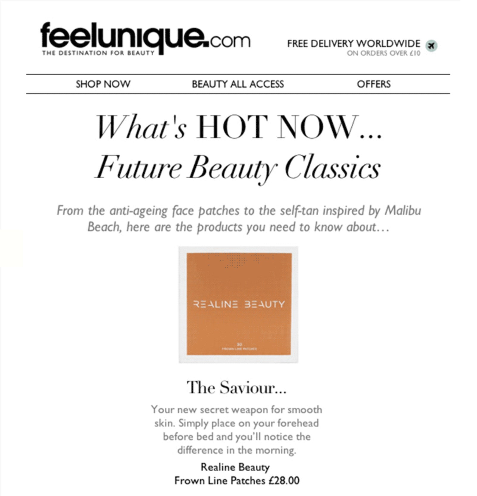 Feelunique.com newsletter