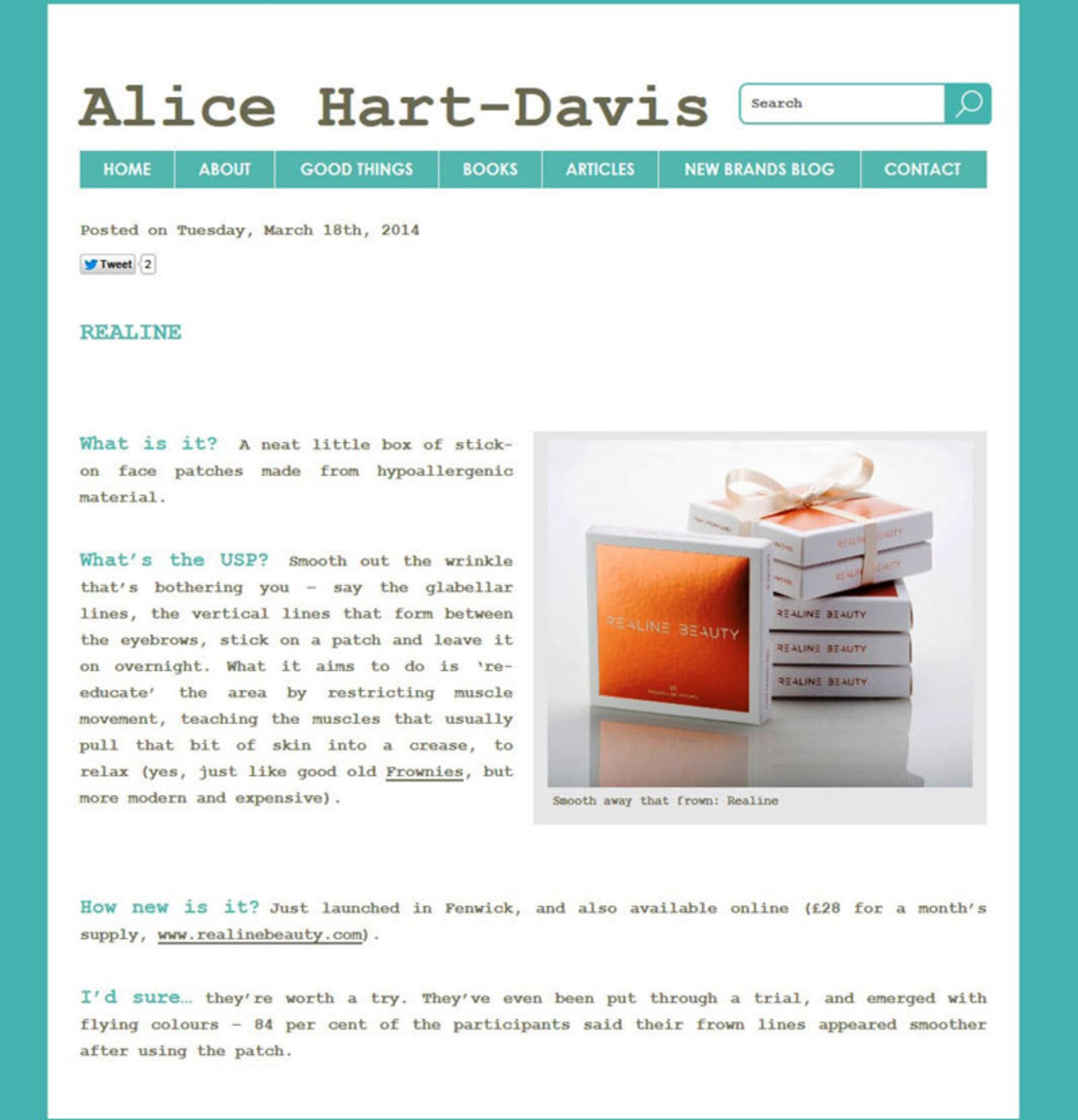 Alice Hart-Davis Article