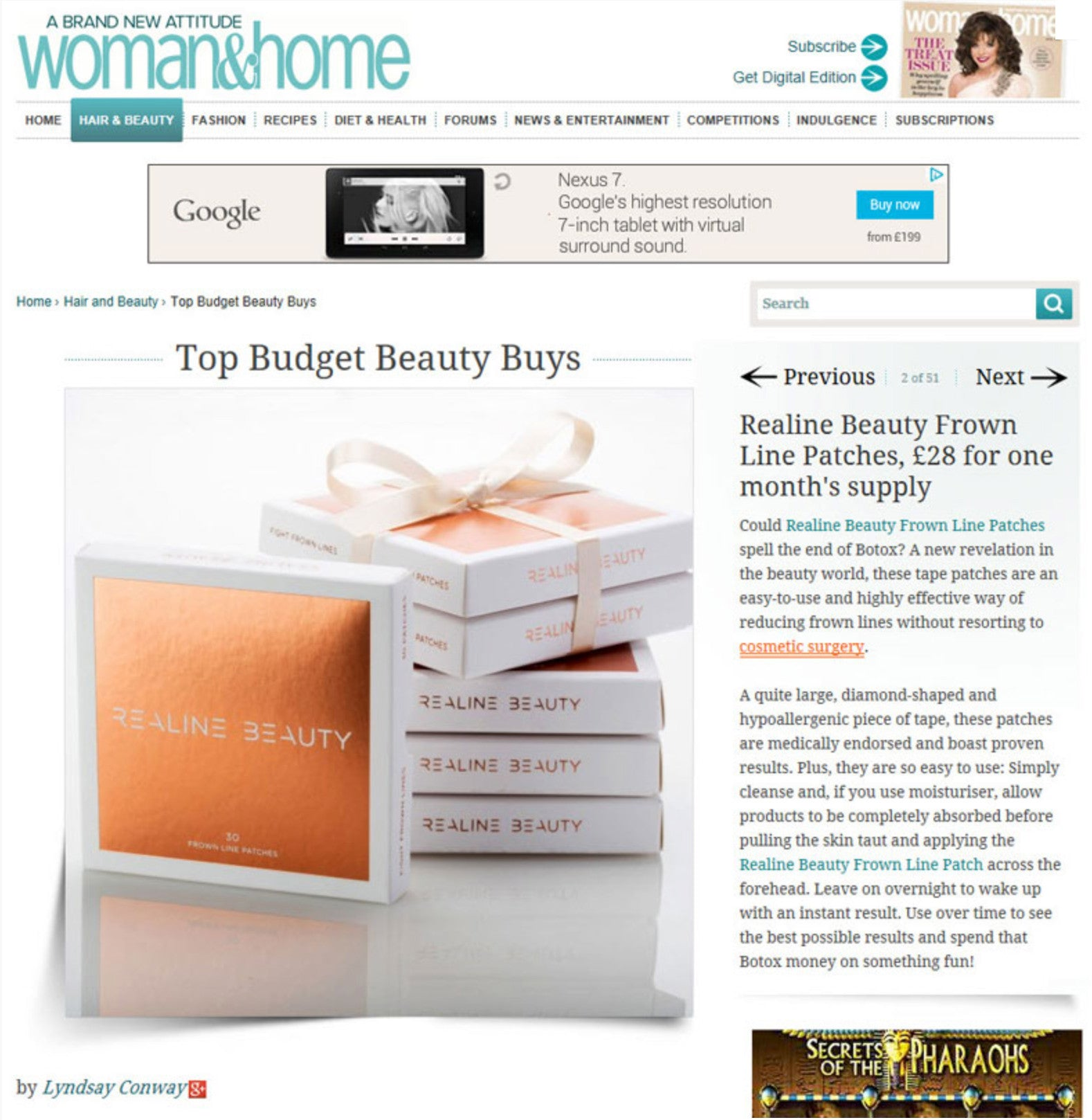 Woman & Home Article