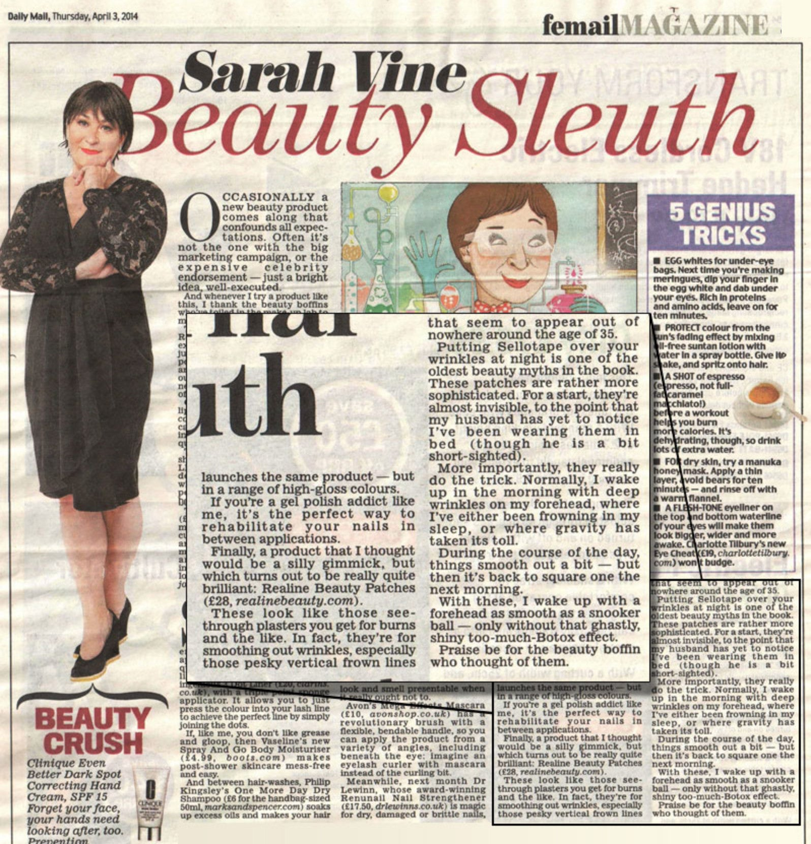 Sarah Vine Beauty Sleuth Feature