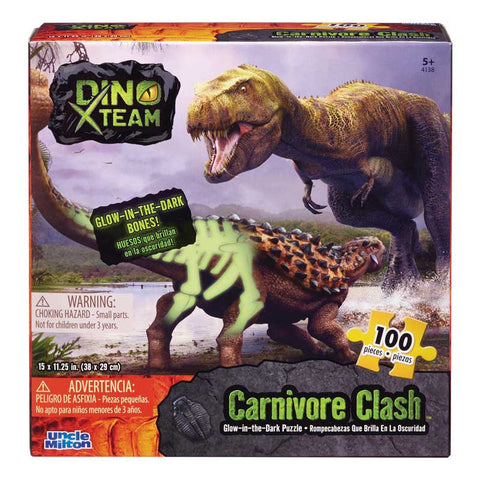 Glow-in-the-Dark 100 Piece Puzzle - Carnivore Clash