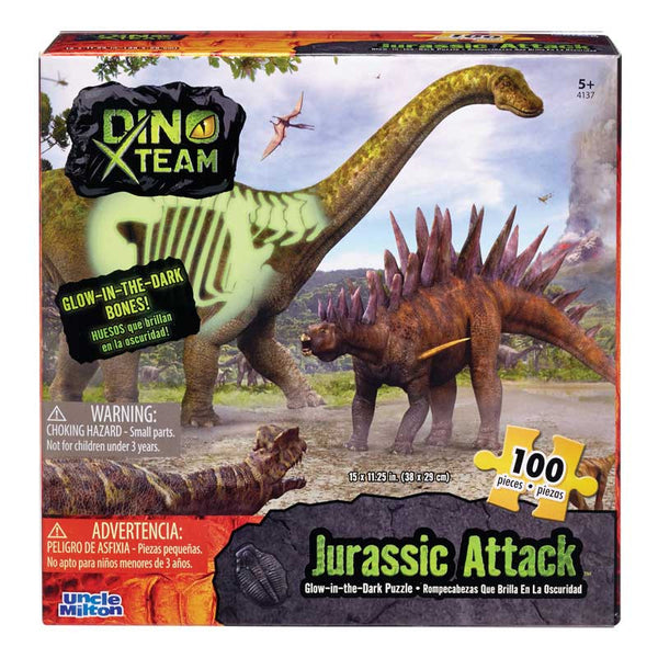 Glow-in-the-Dark 100 Piece Puzzle - Jurassic Attack