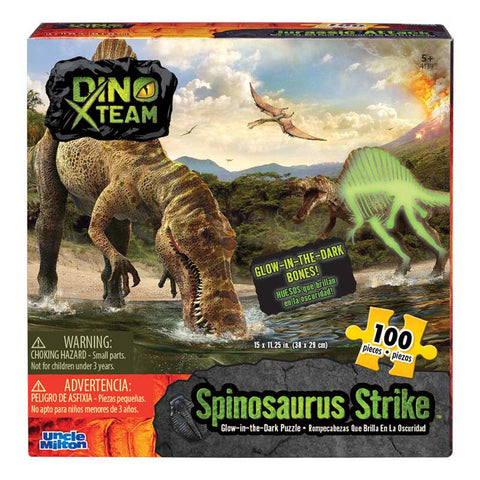 Glow-in-the-Dark 100 Piece Puzzle - Spinosaurus Strike