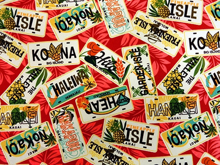 Hawaiian Fabric - LICENSE PLATE DESIGN 2