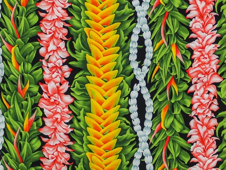 Hawaiian Fabric - FLOWER LEI DESIGN 2