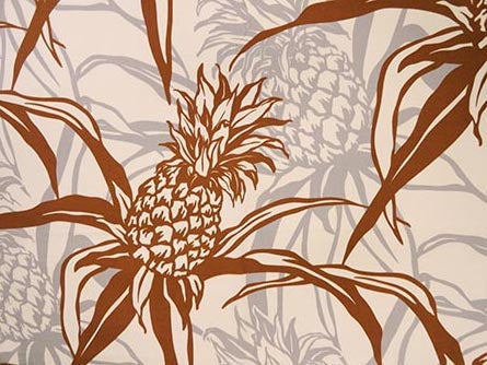 Hawaiian Fabric - PINEAPPLE DESIGN 2