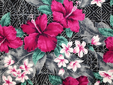 Hawaiian Fabric - BARKCLOTH TROPICAL FLORAL 2