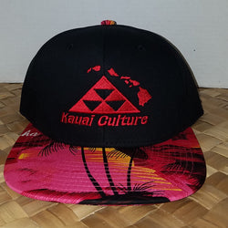 Kauai Culture Snapback Red/Pink