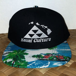 Kauai Culture Snapback White and Blue