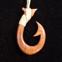 Fish Hook Pendant and Necklace