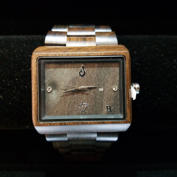 Bean and Vanilla Wood Watch
