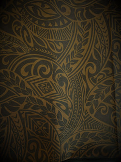 Hawaiian Fabric -100% cotton  TRIBAL 1 - BROWN