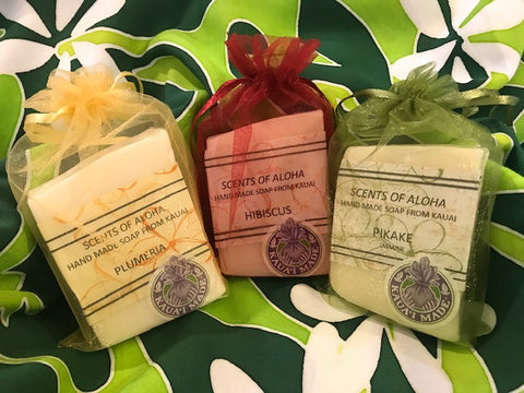 Scents of Aloha Soap 3 PACK