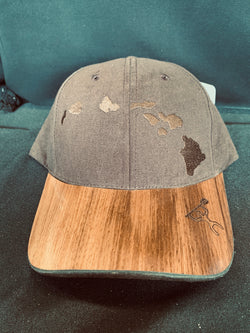 Copy of Koa Wood Brown Island Chain Hat w/ Paddler Rim